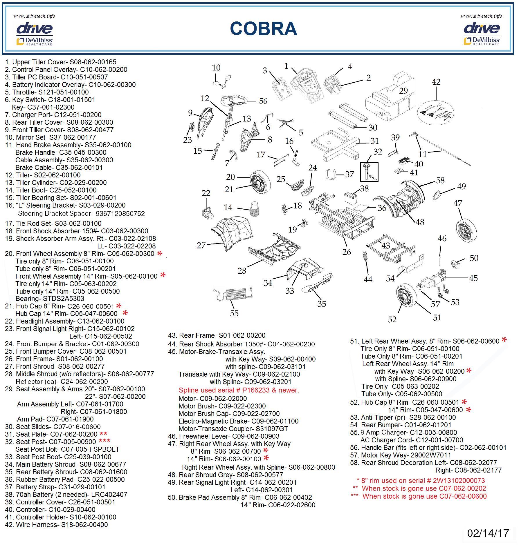 Drive Cobra GT4 Heavy Duty Four-Wheel Power Scooter