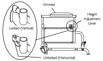 Adjusting Invacare 9000 SL Armrest Height