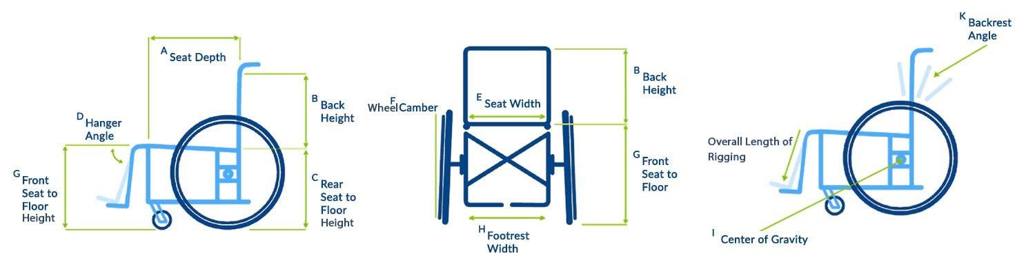 Measuring Guide for Wheelchair