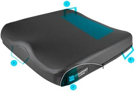 Curve Wheelchair Cushion With Comfort-Tek Cover