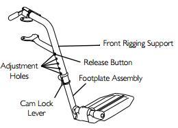 Adjusting Invacare 9000 XT Footplate Height